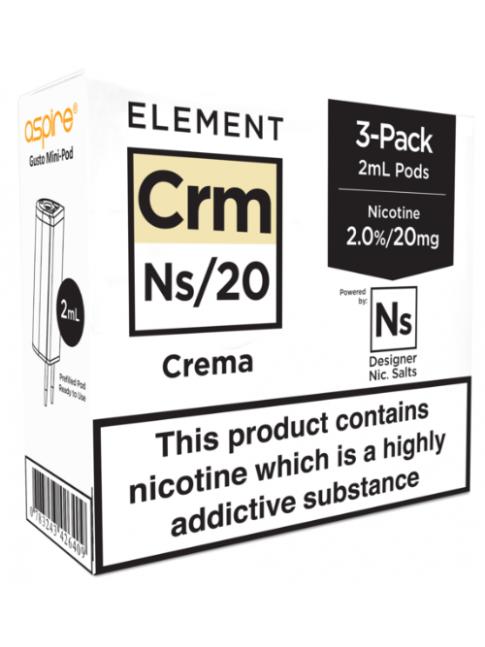 Kjøp Crema - Aspire Gusto Mini NS20 Pod E-væske i vår