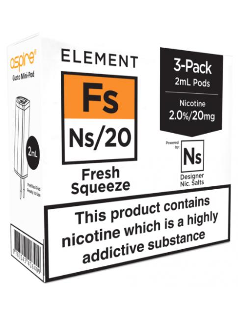 Buy Fresh Squeeze - Aspire Gusto Mini NS20 Pod at Vape Shop –