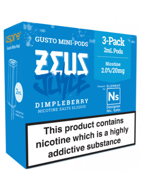 Kjøp Zeus Juice Dimpleberry - Aspire Gusto Mini NS20 Pod