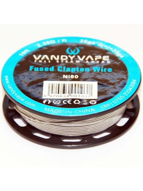 Kjøp Vandy Vape Triple Fused Clapton Ni80 Wire i vår nettbutikk