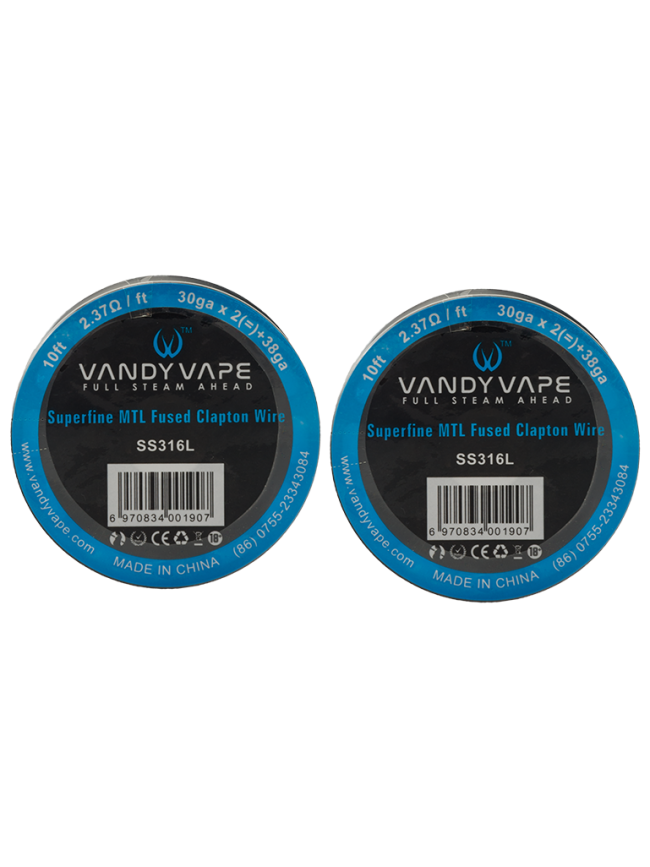 Buy Vandy Vape Superfine MTL Fused Clapton SSL316L Wire in our