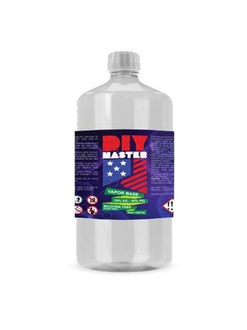 Kjøp DIY Master 1000 ml 70/30 VP/PG 0 mg Base baser i vår