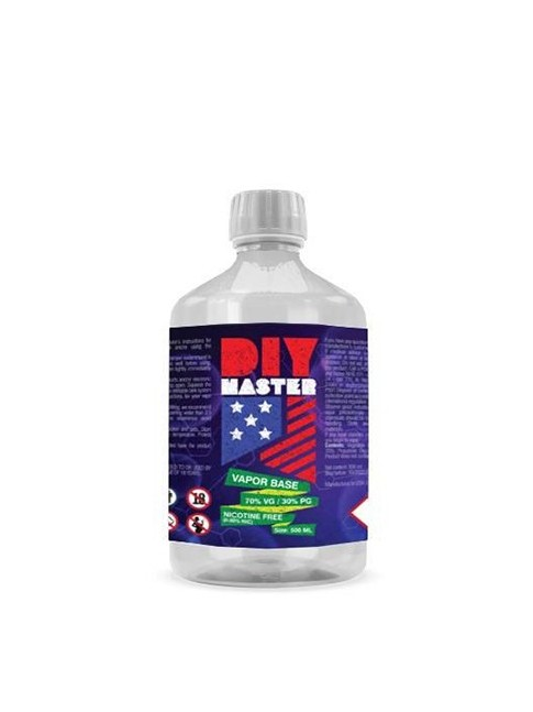 Kjøp DIY Master 500 ml 70/30 VP/PG 0 mg Base baser i vår