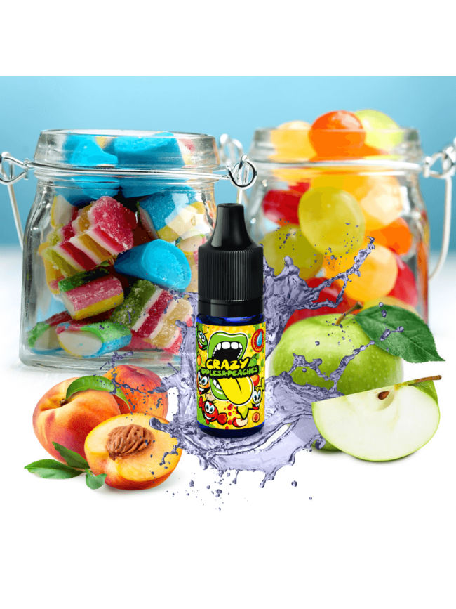 Kjøp Crazy Apples And Peaches i vår nettbutikk – 7Vapes.no