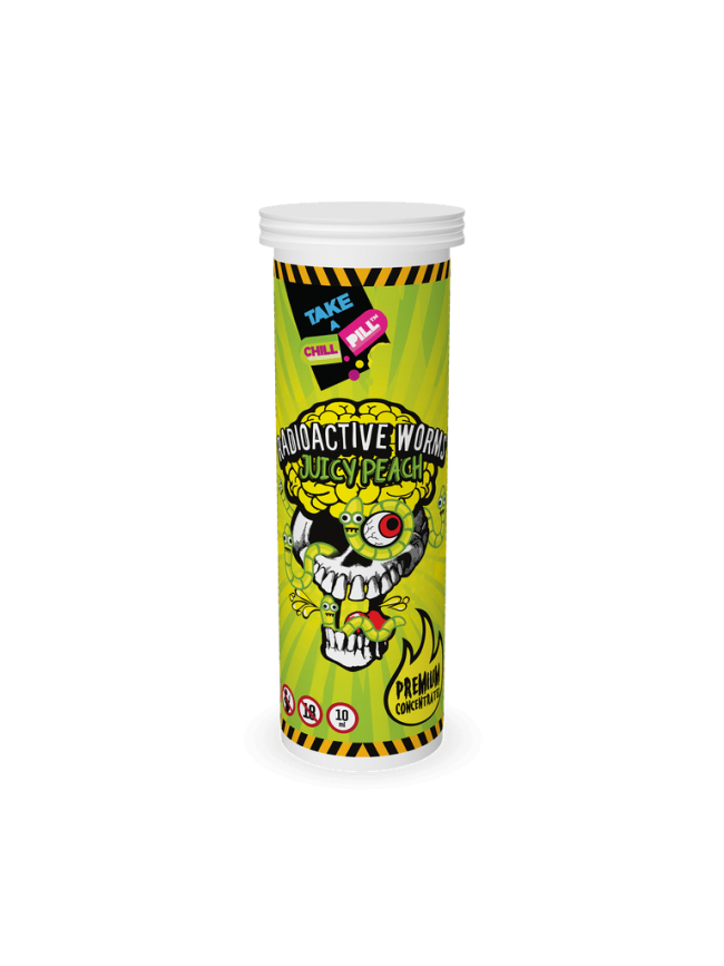 Kjøp Radioactive Worms - Juicy Peach i vår nettbutikk –