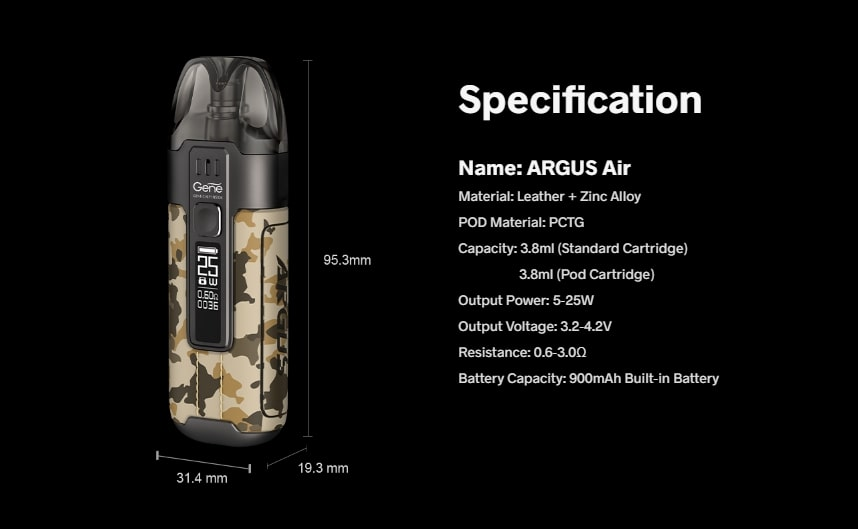 argus_air_pod_specification